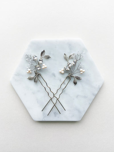 Rent Wedding Headpiece-Madison Hair Pins-Happily Ever Borrowed