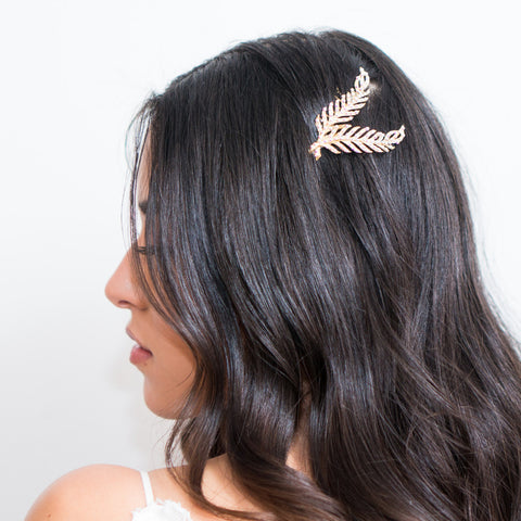 Mary Headpiece-Hairpins & Combs-Justine M. Couture-Gold-4 Day Rental-Happily Ever Borrowed