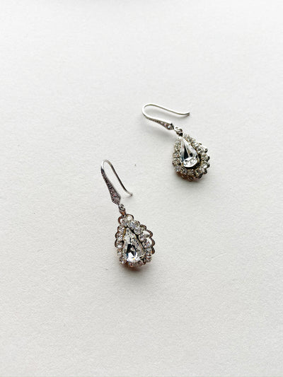 Rent Wedding Jewelry-Megan Earrings-Happily Ever Borrowed