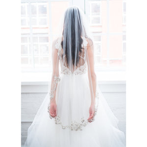 "Moonlight 45"" Veil-Veils-Justine M. Couture-Happily Ever Borrowed"