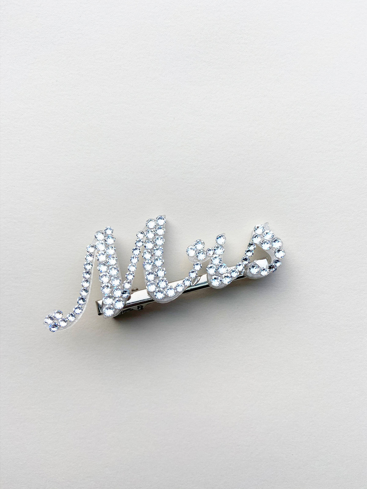 Rent Bridal Hair Accessories - Mrs Rhinestone Hair Clip - Happily Ever Borrowed