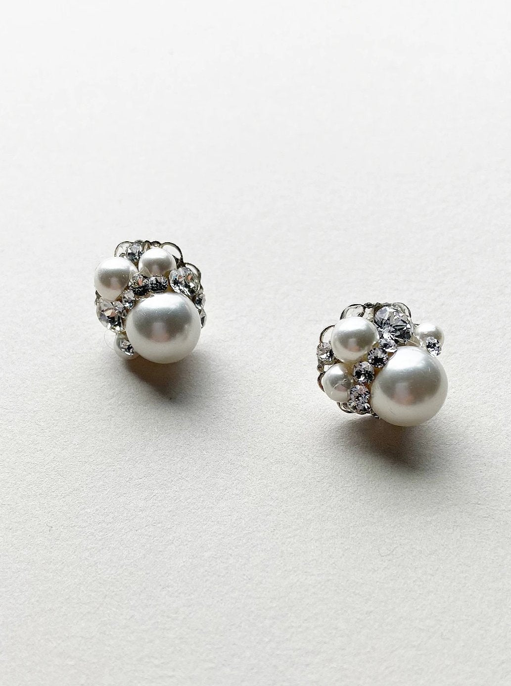 Rent Wedding Jewelry-Pearl Cluster Earrings-Happily Ever Borrowed