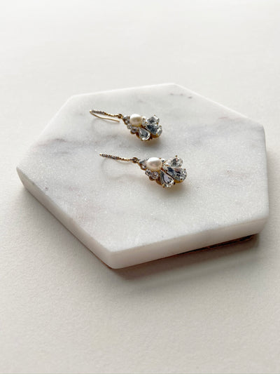 Petite Pearl Drop Earrings