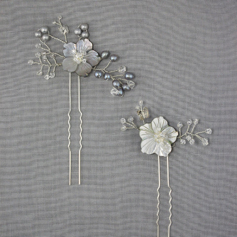 Petite Daisy Hairpin-Hairpins & Combs-Bekah Anne-Dove-4 Day Rental-Happily Ever Borrowed