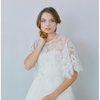 Silk & Beaded Circle Rose Cape-Tops-Twigs & Honey-Ivory-4 Day Rental-Happily Ever Borrowed