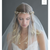 Rent Wedding Headpiece-Asymmetrical Floral and Crystal Swag Headpiece-Happily Ever Borrowed