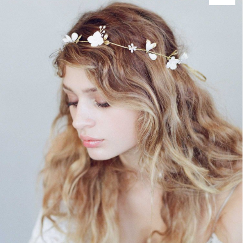 Simple Sugar Blossom Hair Vine headbands Twigs & Honey  - Happily Ever Borrowed