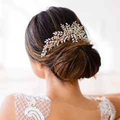 Serena Comb-Hairpins & Combs-Brides & Hairpins-Gold-4 Day Rental-Happily Ever Borrowed