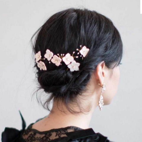 Blossom and Pearl Hair Pin Set - SALE