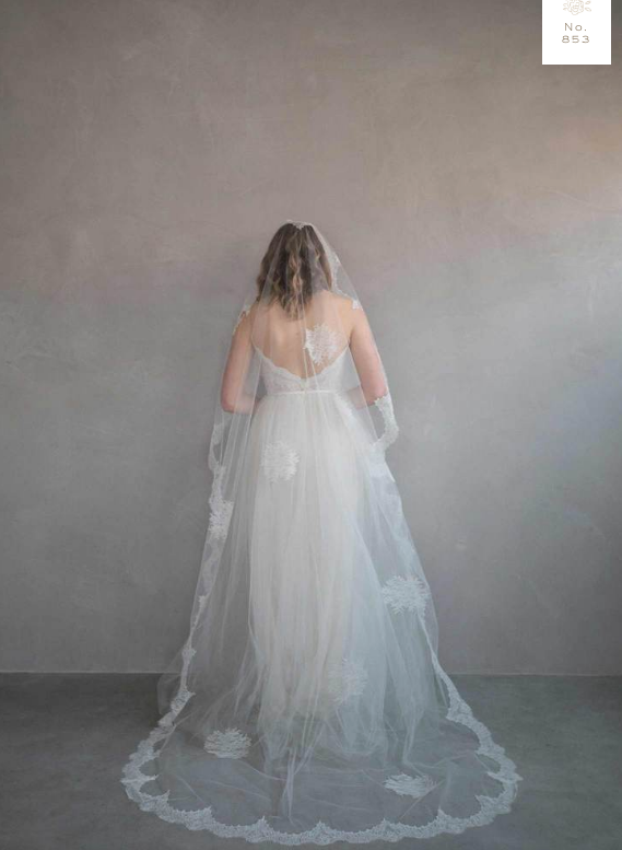 Rent a Wedding Veil-Cascading French Lace Veil-Happily Ever Borrowed