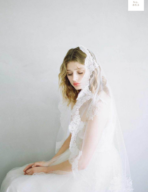 Cascading French Lace Veil