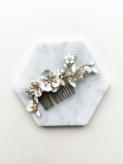 Rent Wedding Hair Accessories-Snowdrop Blossom Headpiece-Happily Ever Borrowed