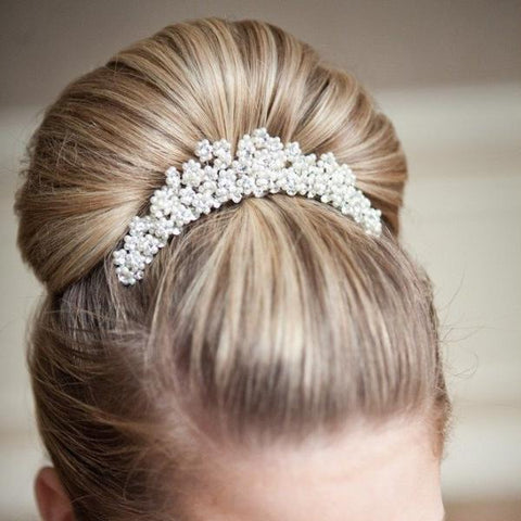 Clara-Belle Comb-Hairpins & Combs-Justine M. Couture-Ivory-4 Day Rental-Happily Ever Borrowed