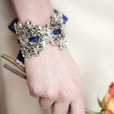 Isabella Cuff - Navy bracelets enchanted atelier  - Happily Ever Borrowed