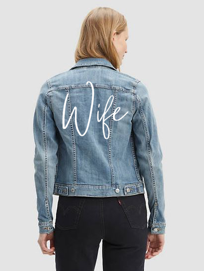 Wife Denim Jacket-Rent Wedding Jacket-Happily Ever Borrowed