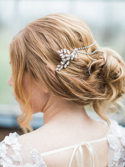 Rent Wedding Headpiece-Blythe Comb-Happily Ever Borrowed