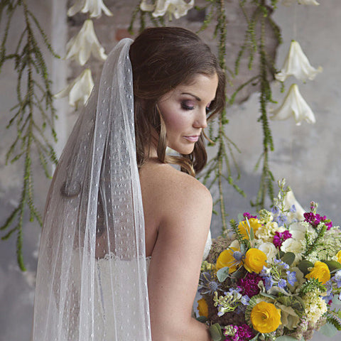 Clementine Chapel Veil-veils-The Yellow Peony-Ivory-4 Day Rental-Happily Ever Borrowed