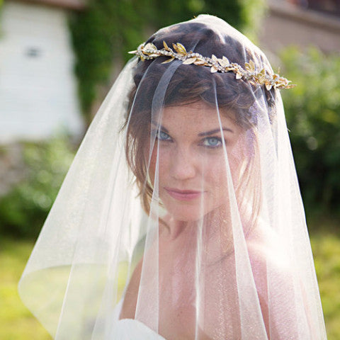 Ivory Drop Veil Veils The Yellow Peony  - Happily Ever Borrowed