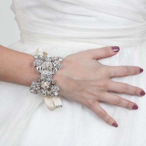 Isabella Cuff - Ivory-bracelets-enchanted atelier-Ivory-4 Day Rental-Happily Ever Borrowed