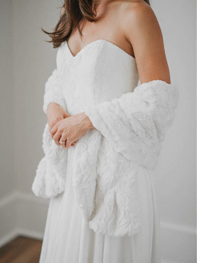 York Fur Shawl-Wedding Fur Shawl Rental