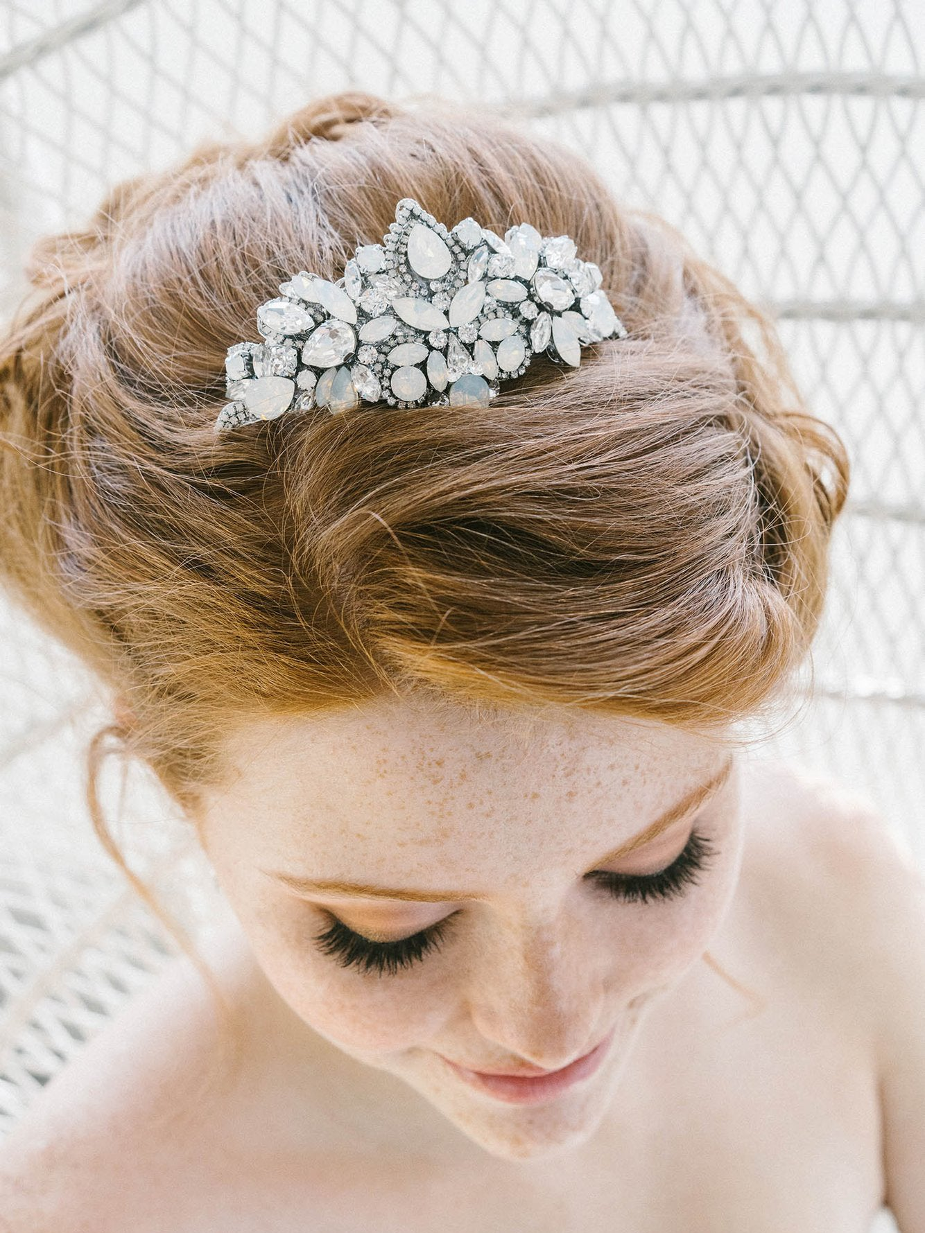 Rent Wedding Headpiece-Jasmine Tiara-Happily Ever Borrowed