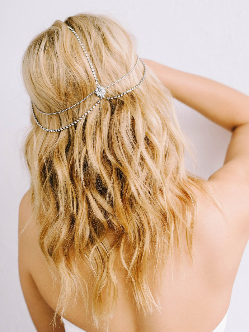Rent Bridal Hair Accessories - Lindsay Hair Chain - Happily Ever Borrowed