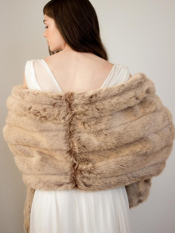 Courcheval Fur Shawl