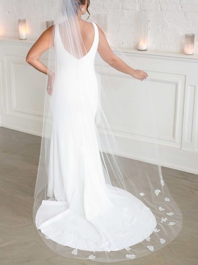 Rent a Wedding Veil-Maisie Veil-Happily Ever Borrowed