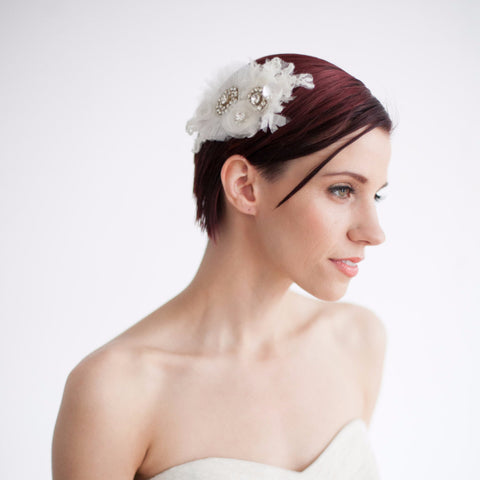 Annie Floral Headpiece-Hairpins & Combs-Bloom Bazaar-White-4 Day Rental-Happily Ever Borrowed