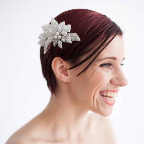 Belle of the Balle Headpiece-Hairpins & Combs-Justine M. Couture-White-4 Day Rental-Happily Ever Borrowed