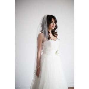 "Chelsea Veil 45""-Veils-Justine M. Couture-Happily Ever Borrowed"