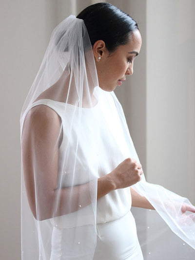 Rent a Wedding Veil-Elenna Veil-Happily Ever Borrowed