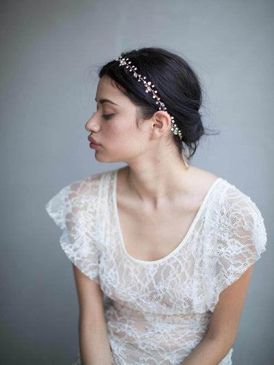 Rent Wedding Headpiece-Simple Crystal Hair Vine-Happily Ever Borrowed