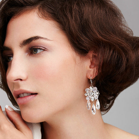Star Bright Chandelier Earrings earrings Elizabeth Bower  - Happily Ever Borrowed