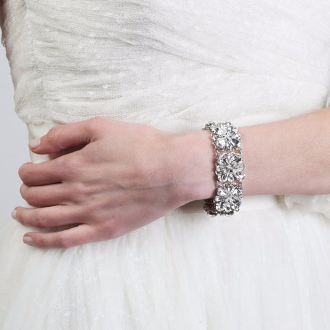 Grace Crystal Bracelet-bracelets-Elizabeth Bower-silver-4 Day Rental-Happily Ever Borrowed