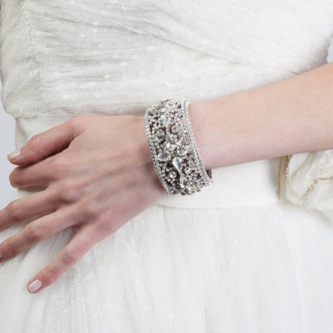 Duchess Cuff Bracelet-bracelets-Justine M. Couture-Happily Ever Borrowed