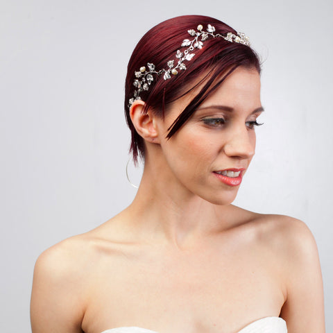 Jardin Vine-headbands-enchanted atelier-silver-4 Day Rental-Happily Ever Borrowed