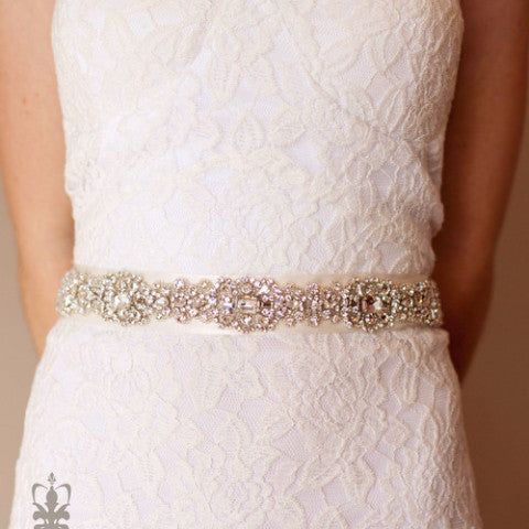 Tosca Sash-belts-Justine M. Couture-Cream-4 Day Rental-Happily Ever Borrowed