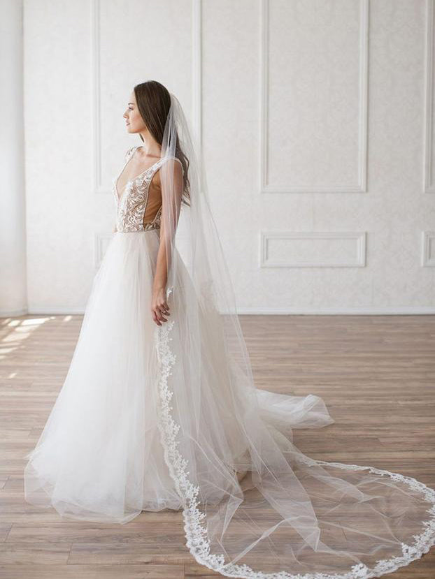 Rent a Wedding Veil-Ophelia Veil-Happily Ever Borrowed