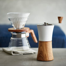 Load image into Gallery viewer, Hario Coffee Mill - Ceramic/Olive Wood