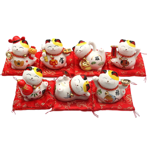 Lot de 6 Tirelires Maneki Neko