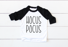 Load image into Gallery viewer, Hocus Pocus - Kids Raglan Baseball Tee