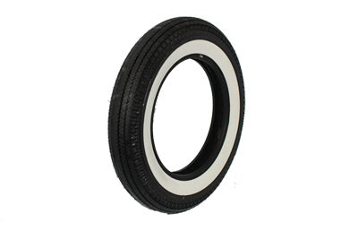 "Replica front or rear 1-3/4"" wide whitewall tire"