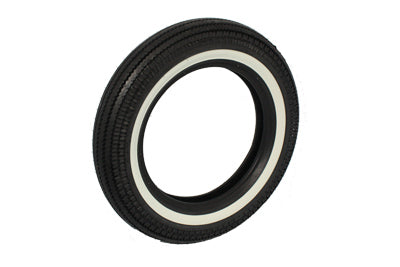 Replica front or rear black wall tire with a grooved style