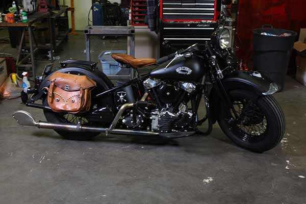 Leather Loctite Saddlebags - Sunburst Brown