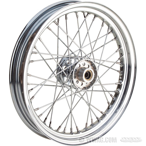 Laced front wheel for 1936-1966