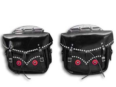 Black Loctite Saddlebags