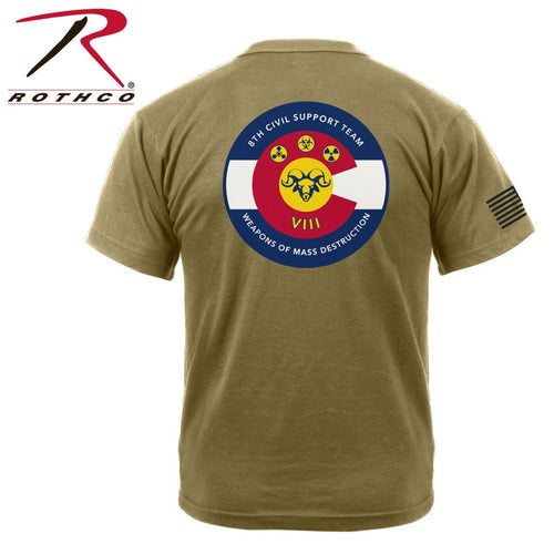 8th WMD CST Rothco Athletic OCP Coyote Brown Tshirt