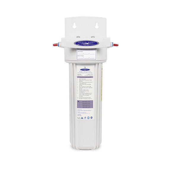 Crystal Quest Fluoride Removal + SMART Refrigerator / In-line Water Filter System Crystal Quest