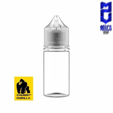 Chubby Gorilla Stubby Clear Black+Black Cap 30ml 100Pack - Unicorn Bottles